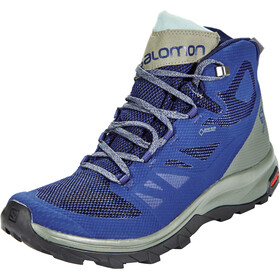 Salomon OUTline Mid GTX Shoes Herren medieval blue/castor gray/green milieu